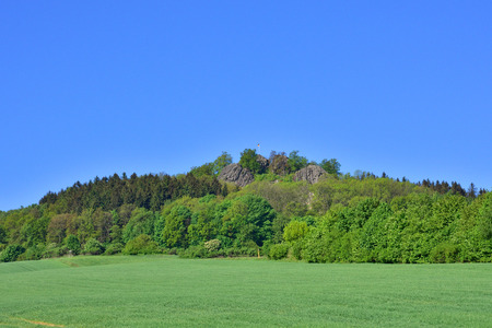 Mountain peak in saxon in spring