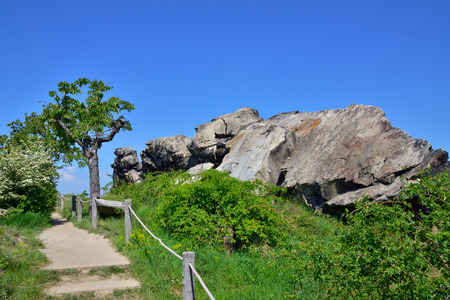 The Devil's Wall in Harz Foreland Stock Photo