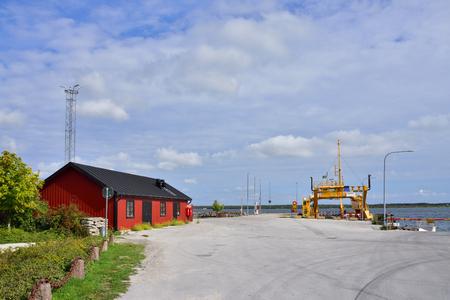 Faro harbor in Sweden on the island Gotland