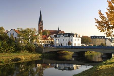 bode: Bode bridge in Stassfurt Stock Photo