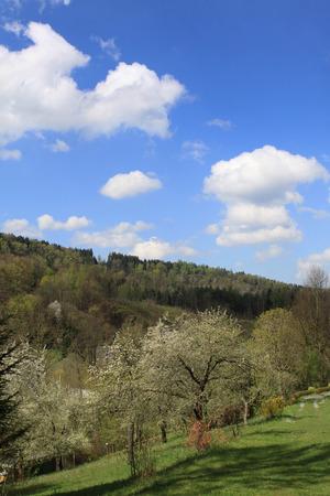 erzgebirge: landscape Erzgebirge Stock Photo