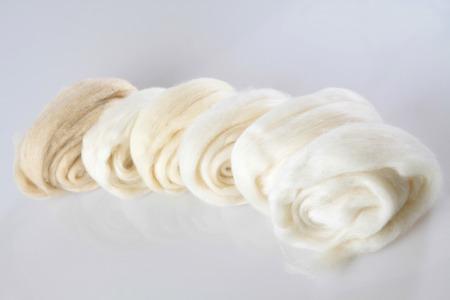 faced: sheep wool Stock Photo