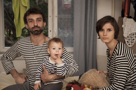 gratified: the portrait of one happy striped family