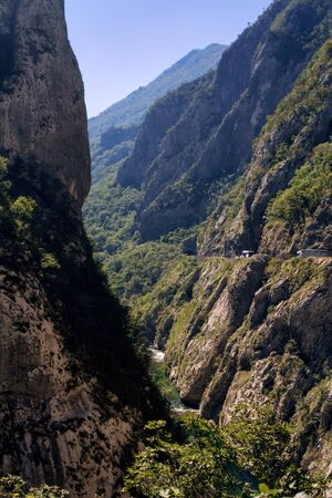 The gorge in the mountains of Montenegro