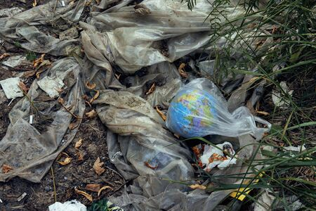 Our planet is drowning in trash. Ecological catastrophy. Stok Fotoğraf