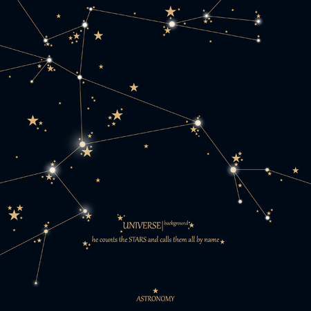 Astronomy scientific background. Vector sky, stars.
