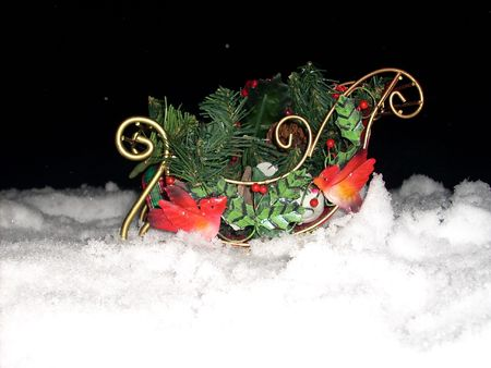 sleigh in snow Stock Photo - 2465907