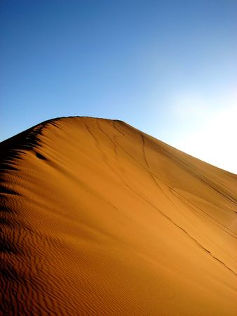 marocco: sand dune in the desert in Marocco Stock Photo