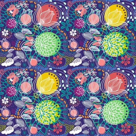 Abstract flowers vector background Vector