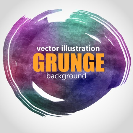 splutter: Abstract isolated  grunge black ink stain.Vector illustration.