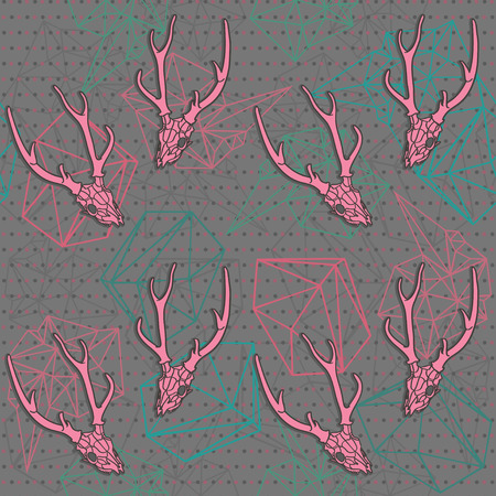 all saint day: Seamless background pattern with poligonal form. Illustration