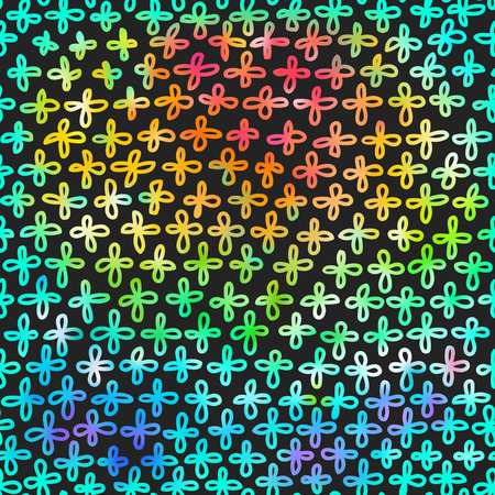 colorific: Modern background with colourful rainbow crosses pattern