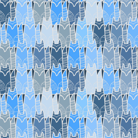 silver fox: Foxes seamless pattern.Vector illustration.Suitable for ads, signboards, menu and web banner designs