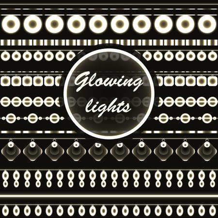 Beautiful retro luxury light lamp decor glowing. Beads