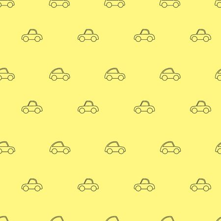 Cute toy cars seamless pattern. Vector seamless pattern. Customized fun background. For prints, cards, baby shower, paper, fabric, wallpaper, blog post
