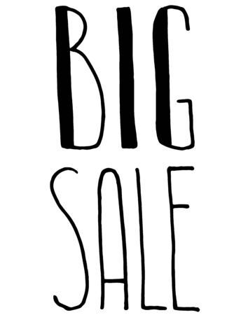 Sale. Vector design. Lettering. For advertising social media blog post Ilustração