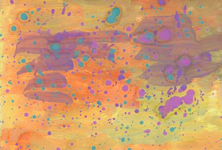 Paint background with paper texture. Customized template for cards, banner, logo, presentation. Abstract hand drawn background for your design with brushstroke textures.
