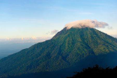 Volcano Nearby Kawah Ijen Volcano, Indonesia