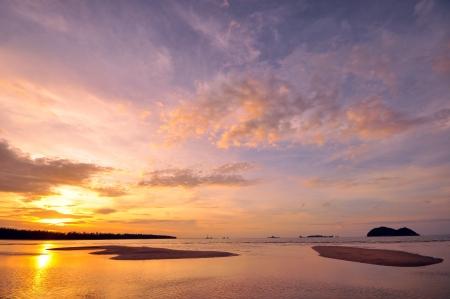 Nobody on Beach at Sunset photo