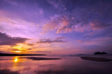 Beautiful Beach at Sunset photo