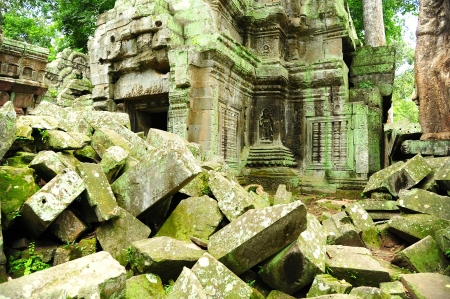 Ruin of Temple in Angkor Thom, Cambodia Stock Photo - 22666712