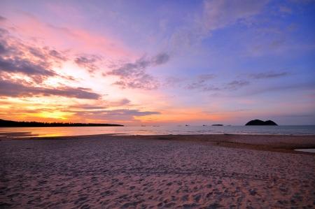 sunrise beach: Nobody on Beach at Sunset