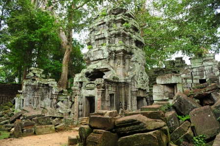 thom: Ruin of Temple in Angkor Thom, Cambodia