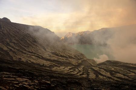Crater of Kawah Ijen Volcano, Indonesia