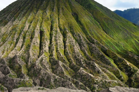 Land Pattern of Volcano Stock Photo