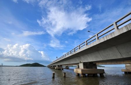 Bridge Across the Sea  Stock Photo