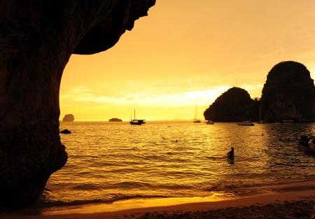 Sea on Sunset  photo