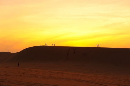 White Sand Dunes, Little Deserts in Vietnam photo