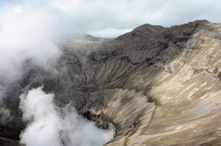 The Crater of Mount Bromo Volcano, Indonesia