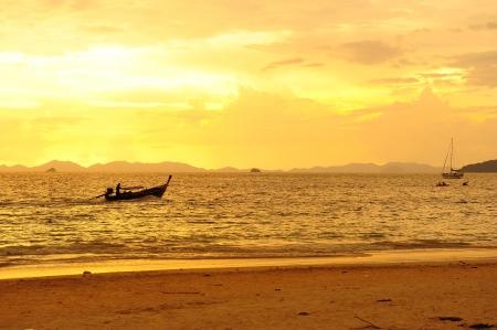 Sea on Sunset Background
