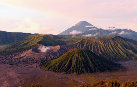 The Peak of Mount Bromo Volcano, Indonesia photo