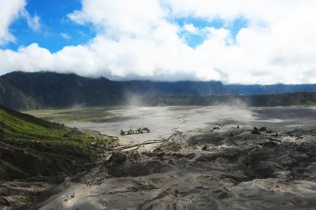 Landscape of Mount Bromo Volcano, Indonesia Stock Photo