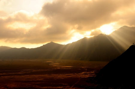 Volcanic Mountain Landscape of Mount Bromo, Indonesia photo