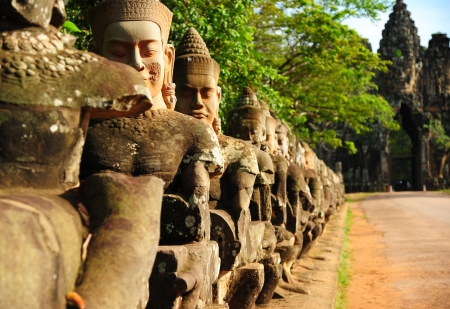 Front Gate of Angkor Thom, Cambodia Stock Photo