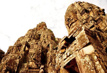 angkor thom: Bayon Temple of Angkor Thom, Cambodia