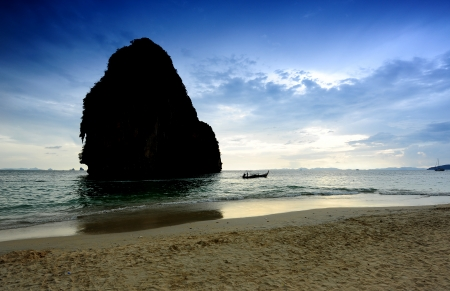 Tranquil Beach on the Island of Southern Thailand photo
