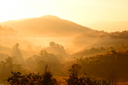Mountain Range Landscape Background photo