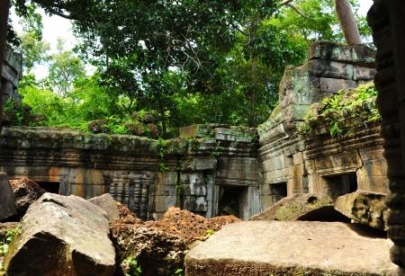 angkor thom: Ruin of Temple in Angkor Thom, Cambodia