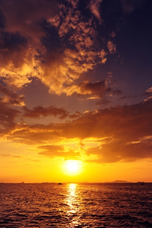 Sea Sunset Background photo