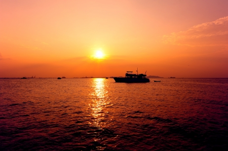 Sunset on the Sea photo