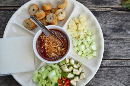 Vietnamese-Thai Food  Stock Photo