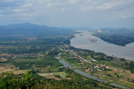 Mekong River at Border of Thailand and Laos