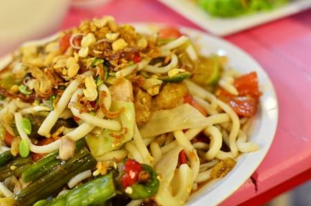 Large Size of Stir-Fried Rice Noodle with Shrimp Stock Photo - 24672726