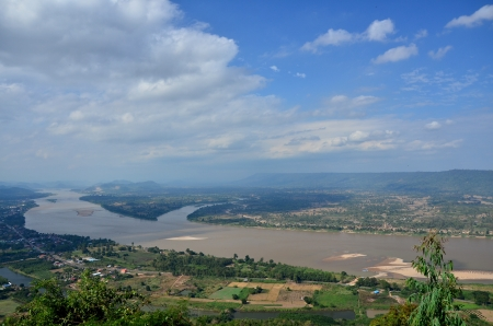 Mekong River at Border of Thailand and Laos photo