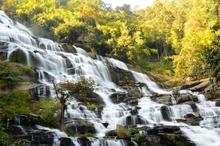 hydrology: High Cliff Waterfalls Stock Photo