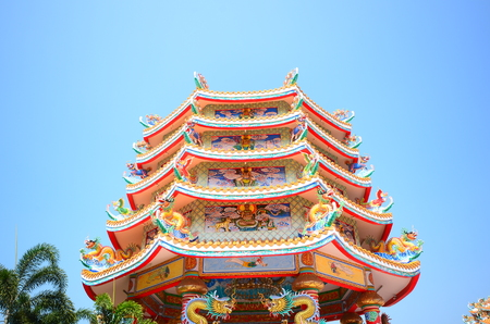 buddhist structures: Pavilion of Chinese Temple